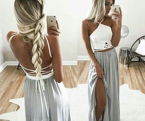 hair, dress, and braid image