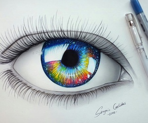 colors, eyes, and galaxy image