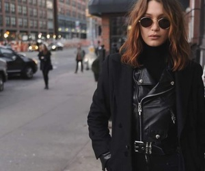 bella hadid, black, and city image
