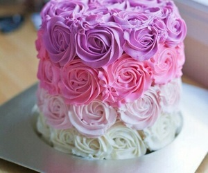 cake, color, and flower image