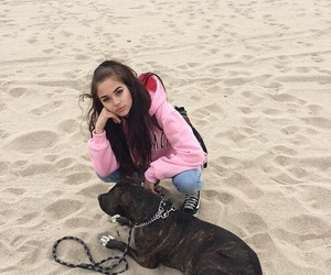 girl, maggie lindemann, and beach image