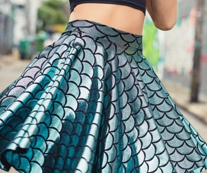 skirt and mermaid image