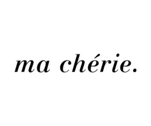 ma cherie, love, and french image