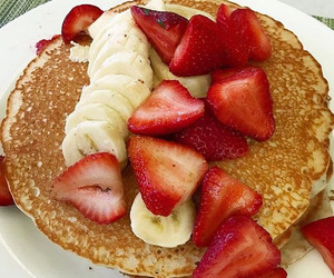 banana pancakes, delicious, and food porn image