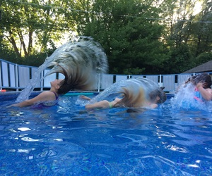 blonde, cool, and pools image