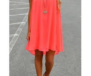 beautiful, neon, and orange image