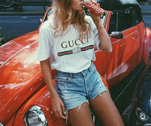 car, coca cola, and fashion image