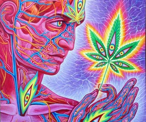 weed, marijuana, and art image