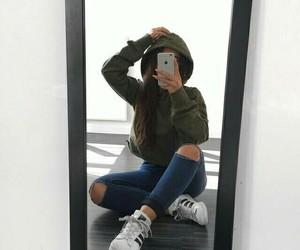 adidas, espejo, and estilo image