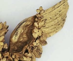 gold, aesthetic, and angel image
