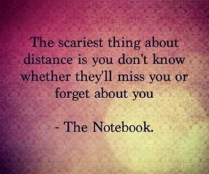 quotes, distance, and the notebook image