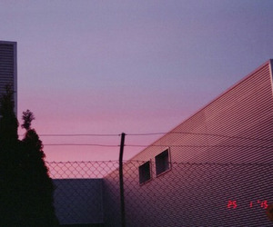 pink, grunge, and sky image