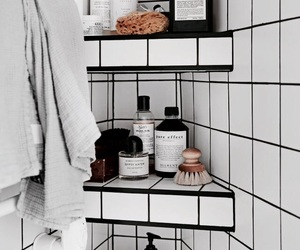 bathroom, beauty, and chic image