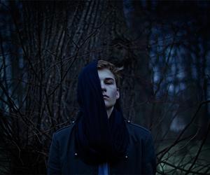 art, boy, and dark image