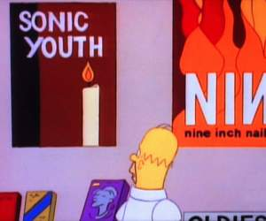 sonic youth, the simpsons, and Nine Inch Nails image
