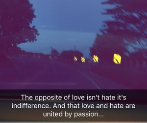 hate, passion, and road image
