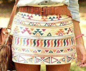 fashion, skirt, and aztec image