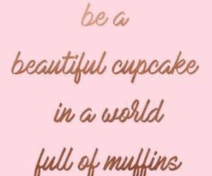 pink, quotes, and cupcake image