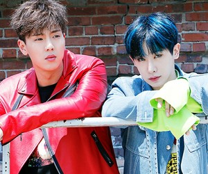 kpop, wonho, and shownu image