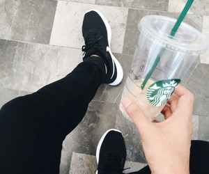 coffee, nike, and starbucks image
