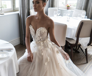 wedding, fashion, and dress image