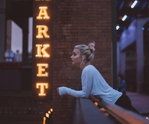 girl, market, and photography image
