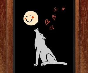 full moon, Howl, and wolves image