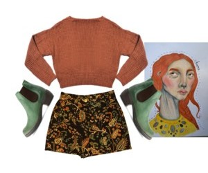 fashion, girl, and old image