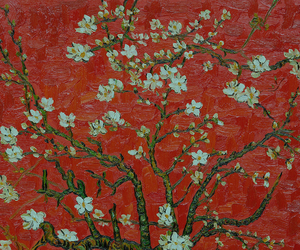 art, flowers, and red image
