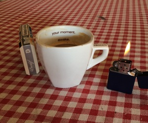 cigarette, coffee, and morning image