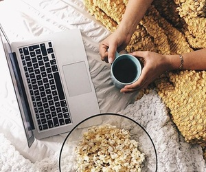 coffee, home, and popcorn image