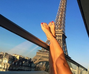 paris, girl, and legs image