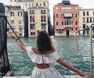 girl, travel, and venice image