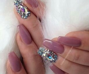 nails, sparkly, and girls image