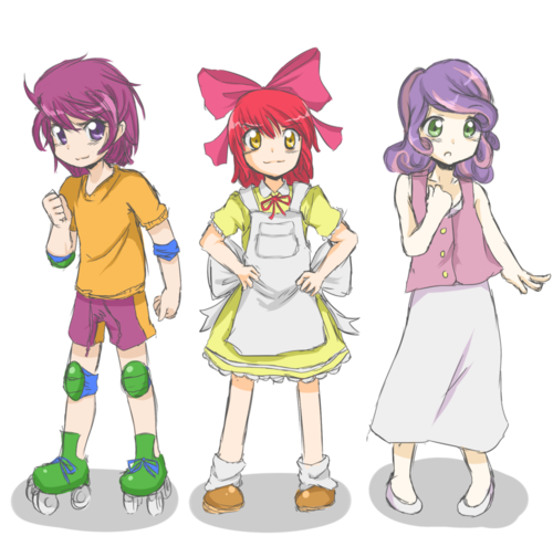 Lionheart Cutie Mark Crusaders Human By Applestems Scootaloo soon made her favorite foods clear when she got out into the garden we fenced for her. lionheart cutie mark crusaders human