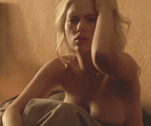 blonde, Nude, and Scarlett Johansson image