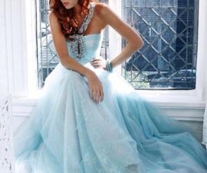 bridal, blue, and princess image