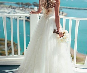 wedding, dress, and summer image