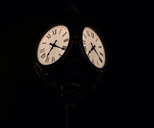 aesthetic, clock, and night image