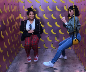 kylie jenner, jordyn woods, and banana image