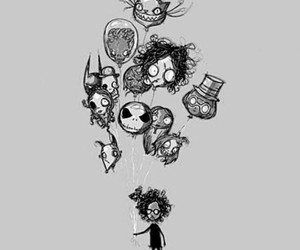 art, drawing, and timburton image