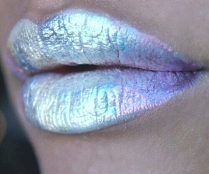 holographic, lips, and lipstick image
