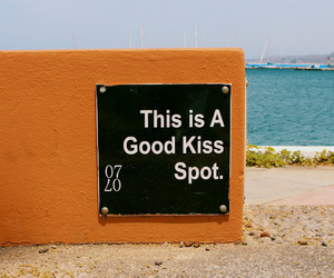 orange, beach, and kiss image