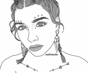 art, outlines, and braids image