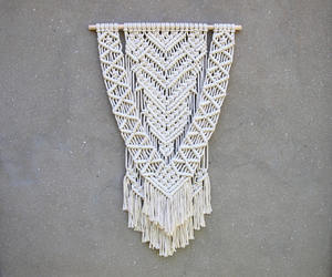 etsy, modern macrame, and living room decor image