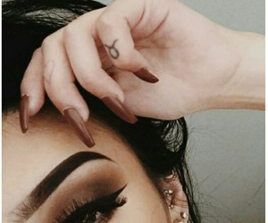 eyeshadow, nails, and tattoo image