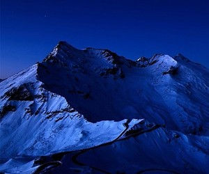 blue, mountain, and wallpaper image