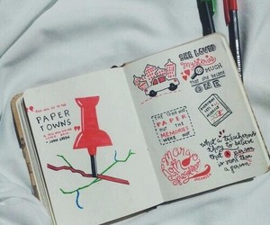 paper towns, book, and john green image