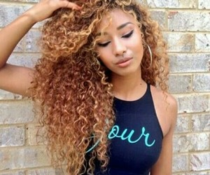 hair, curly hair, and pretty image