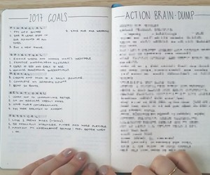 goal, note, and notebook image